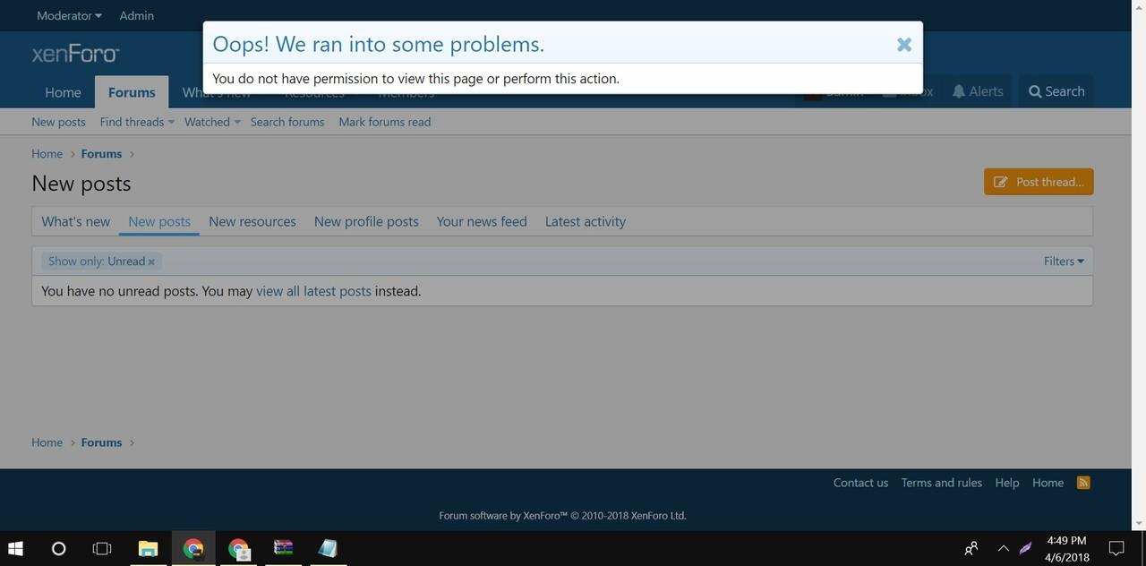 (Ask) Cara Setting Permission xenforo untuk New Thread