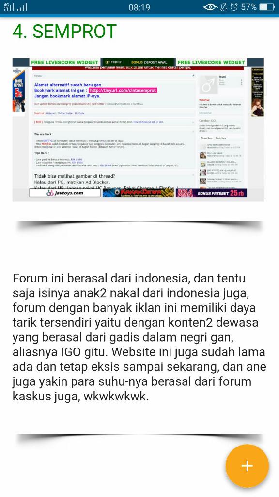 Forum Berbahaya Dunia Internet