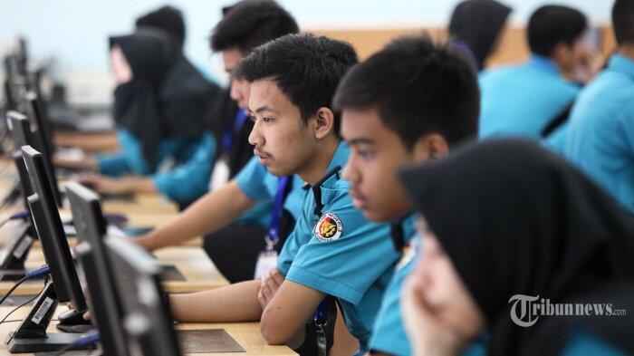 Siswa SMA 45 Jakarta Kedatangan Irjen Kemendikbud di UNBK Hari Ini