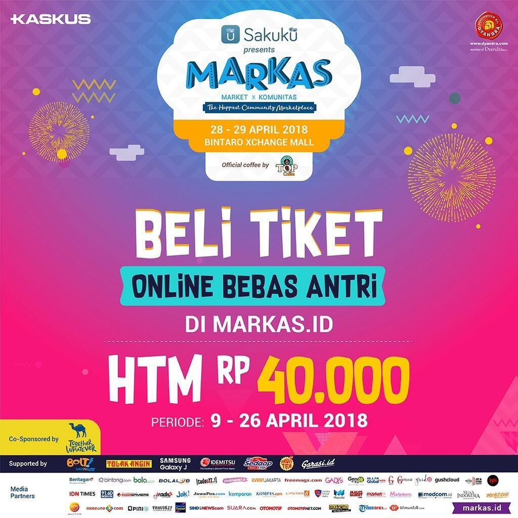 Beli Tiket Online MARKAS 2018, SEKARANG!