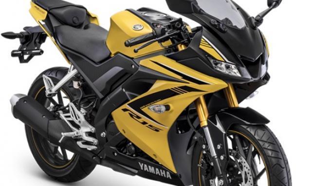 All New R15 Hadir dengan Suspensi Upside Down Warna Emas