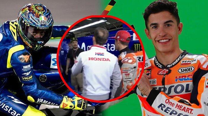 Valentino Rossi Anggap Marc Marquez Tak Tulus Saat Datangi Garasinya Buat Minta Maaf