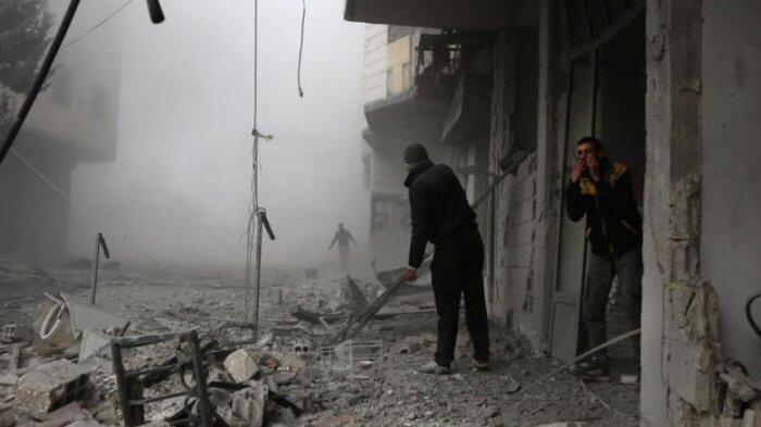 Rudal Hajar Pangkalan AU Suriah, 14 Serdadu Tewas