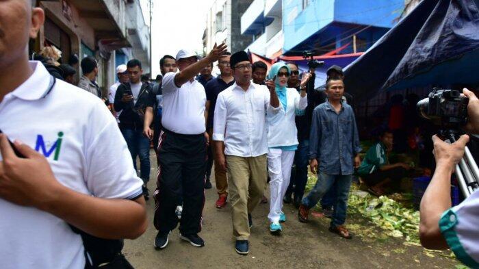 Datang ke Sukabumi Kang Emil Dicurhati Pedagang Pasar Pelita