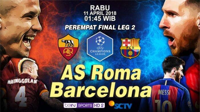 Keangkeran Stadion Olimpico Bagi Barcelona Jelang Melawan Roma