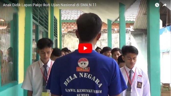 Anak Didik Lapas Pakjo Ikuti Ujian Nasional di SMA N 11