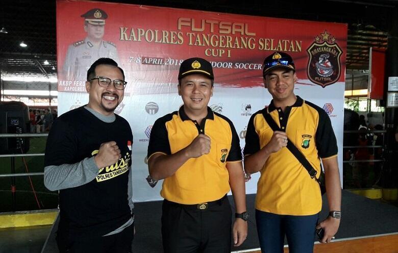 24 Tim Incar Juara Turnamen Futsal Kapolres Tangerang Selatan Cup 1