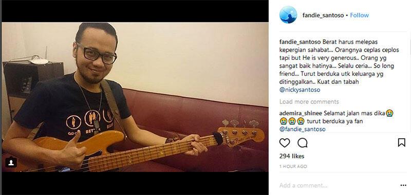 RIP Andika Kerispatih, Ini 10 Potret Terakhir Sang Bassist