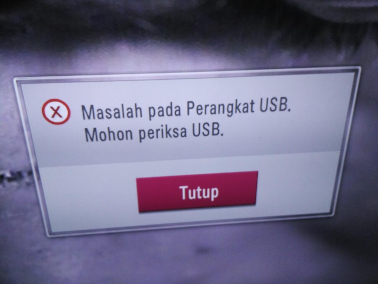 Fix FLASHDISK tidak terbaca di TV LG