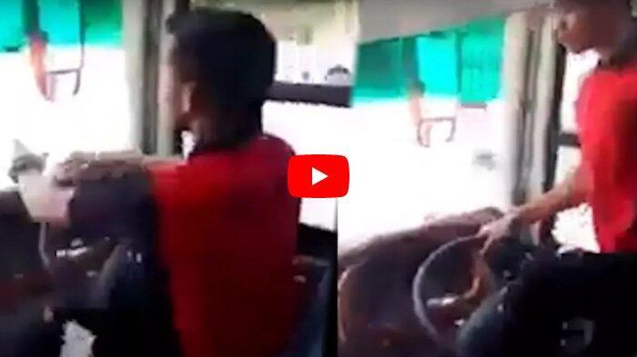 Video Aksi Berbahaya Sopir Bus Mengemudi Sambil Berjoget