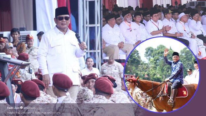5 Fakta Rakornas Gerindra, Capreskan Prabowo, Sikap PKS hingga Ketum PAN Naik Kuda