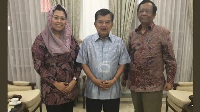 Kalla Ungkap Maksud Pertemuannya dengan Mahfud MD dan Yenny Wahid