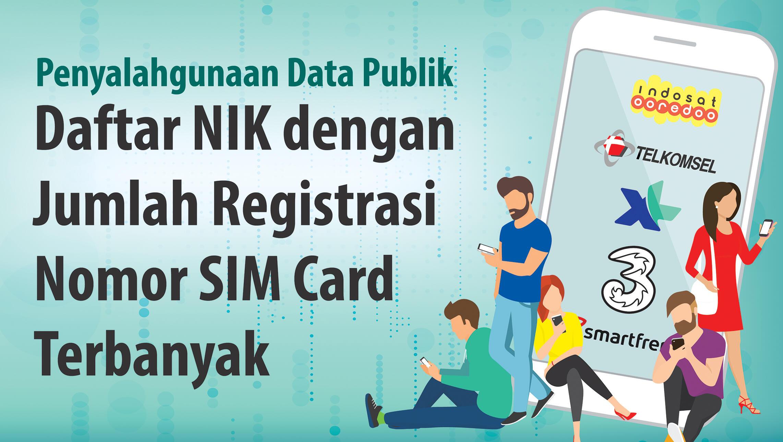 Terungkap, Daftar NIK yang 'Dicuri' untuk Registrasi Jutaan SIM Card