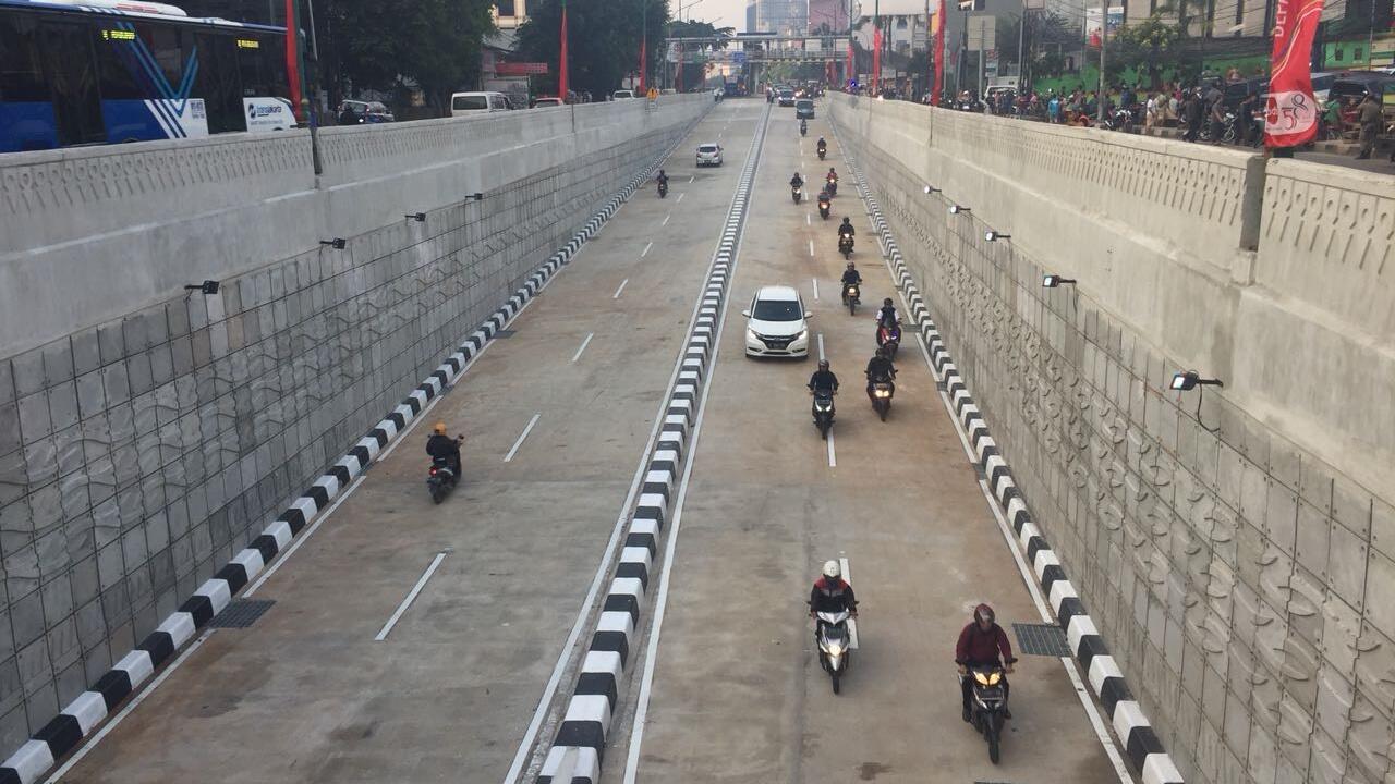 Underpass Mampang Dibuka untuk Uji Coba, Arus Lalu Lintas Lancar