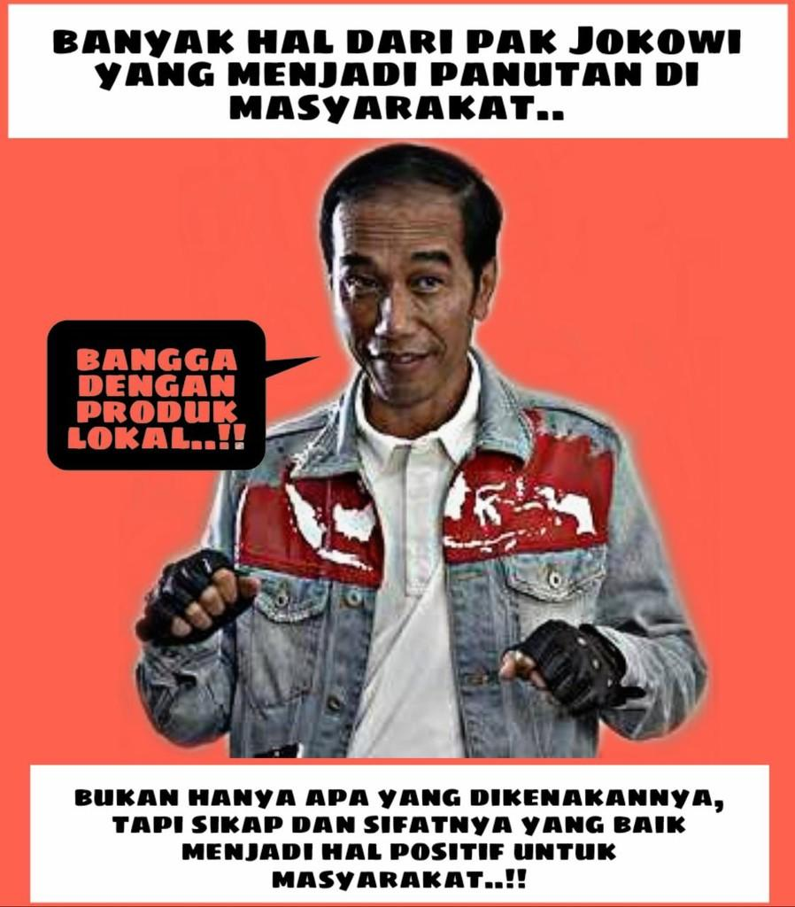 Presiden Jokowi, Trend Setter yang Membuat Brand Lokal Mampu Bersaing