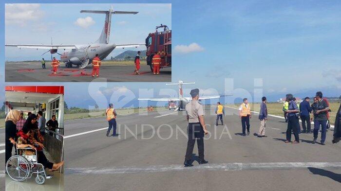 Pesawat Wings Air Mendarat Darurat di Bandara Rembele, Dua Penumpangnya Cedera