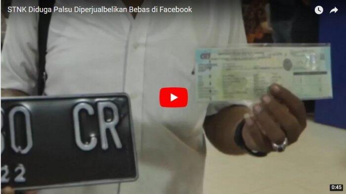 STNK Diduga Palsu Diperjualbelikan Bebas di Facebook