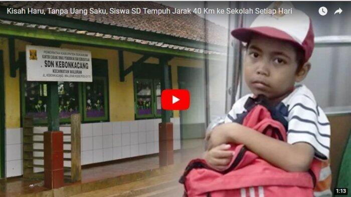 Kisah Haru, Tanpa Uang Saku, Siswa SD Tempuh Jarak 40 Km ke Sekolah Setiap Hari