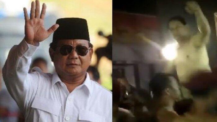 Usai Deklarasi Capres, Prabowo Diarak Bertelanjang Dada