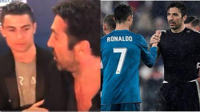 Ronaldo Hormati Buffon dengan Cara Seperti Ini