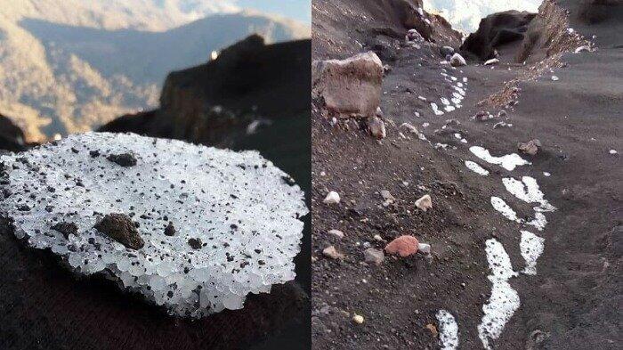 Muncul Es di Gunung Semeru, Bukti Ekstremnya Suhu di Puncak Tertinggi di Jawa?