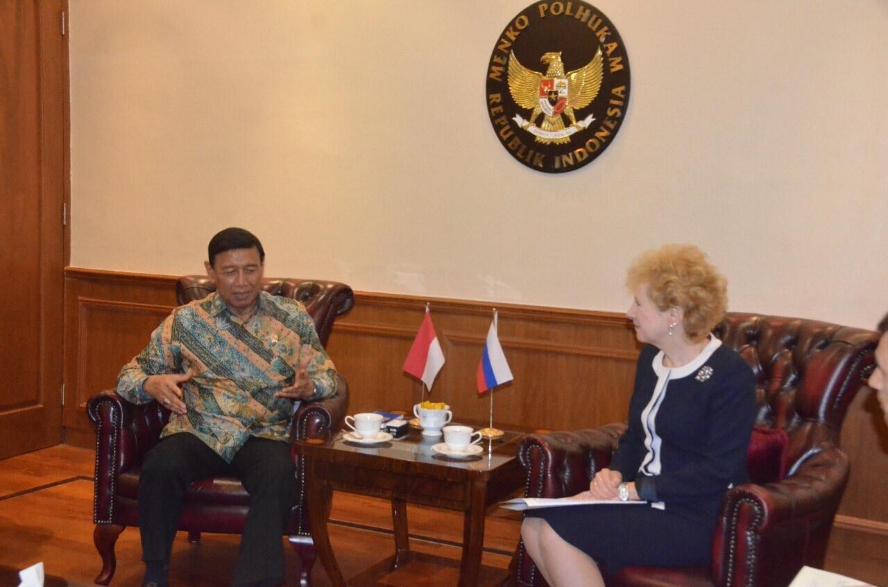 Bertemu Dubes Rusia, Wiranto Bahas Pelaksanaan KTT Keamanan Global