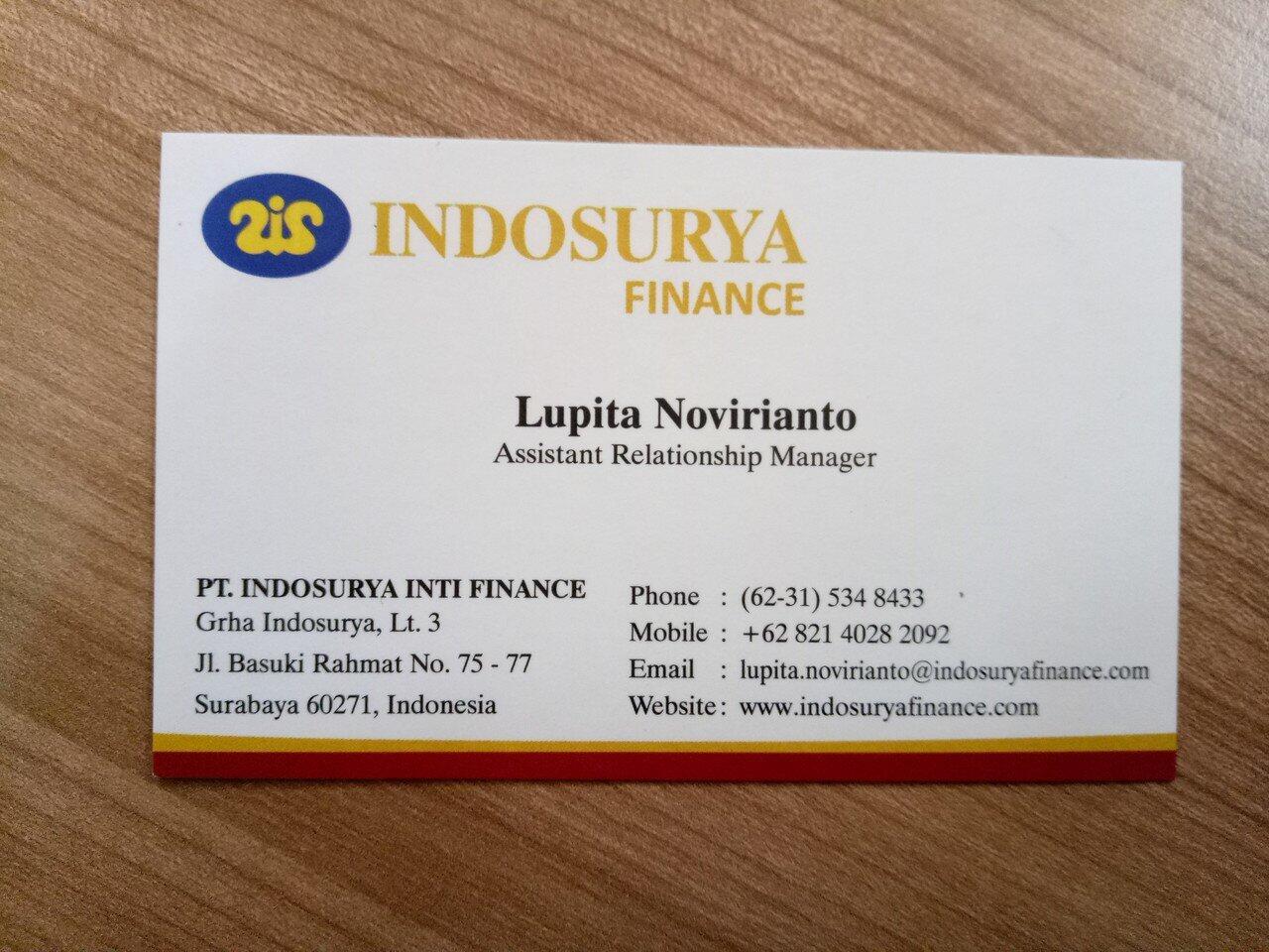 [SURABAYA] LOWONGAN FREELANCE!! PT INDOSURYA INTI FINANCE