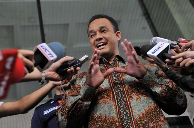 Anies Datang ke Rakornas Gerindra sebagai Gubernur