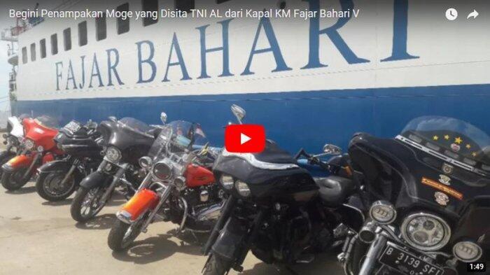 Begini Penampakan Moge yang Disita TNI AL dari Kapal KM Fajar Bahari V