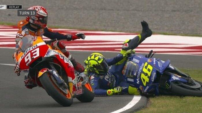 Dikritik Keras Valentino Rossi terkait Gaya Balapnya, Begini Jawaban Marc Marquez