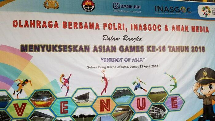 Energy of Asia, Polri Bersama Jurnalis Olahraga Bersama di Lapangan GBK