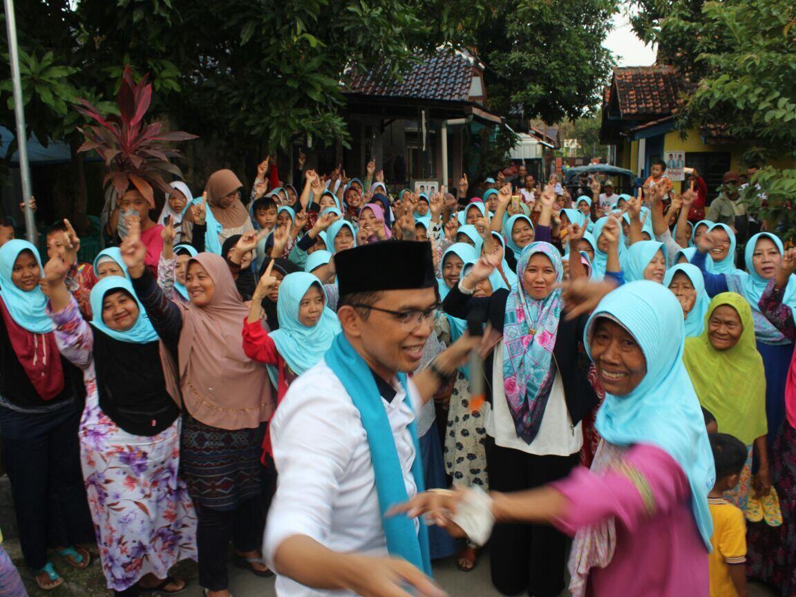 Kampanye di Rumah Sendiri, Cabup Maman Yakin Rebut 100 Persen Suara Desa Babakan