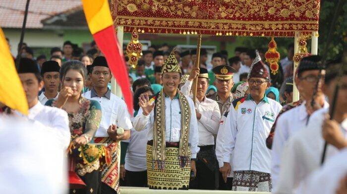 Buka Liga Santri Sub-regional Lampung 1, Menpora Disambut Bak Raja