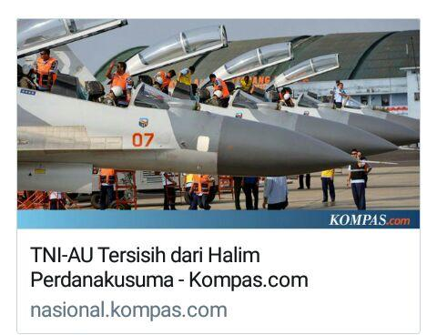 TNI-AU Tersisih dari Halim Perdanakusuma