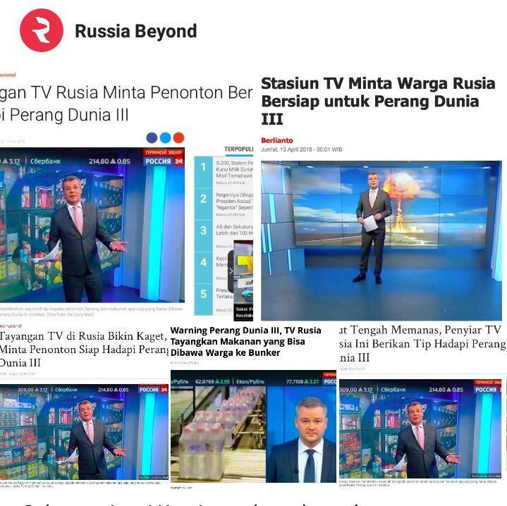 Klarifikasi Media Rusia Terhadap Stasiun TV Rusia Himbau Warga Untuk Siap Siap PD 3