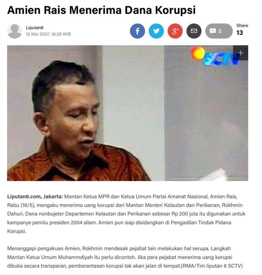 PAN bela Amien: Partai Setan & Allah yang dimaksud sekelompok orang bukan parpol