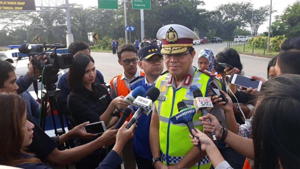 Uji Coba Ganjil Genap Tol Jakarta-Tangerang Kurangi Kepadatan 47%