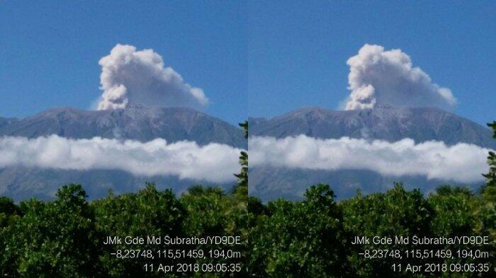 PVMBG Indikasikan Turunkan Status Gunung Agung Meski Masih Alami Erupsi