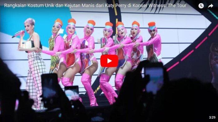 Rangkaian Kostum Unik dan Kejutan Manis dari Katy Perry di Konser Witness: The Tour