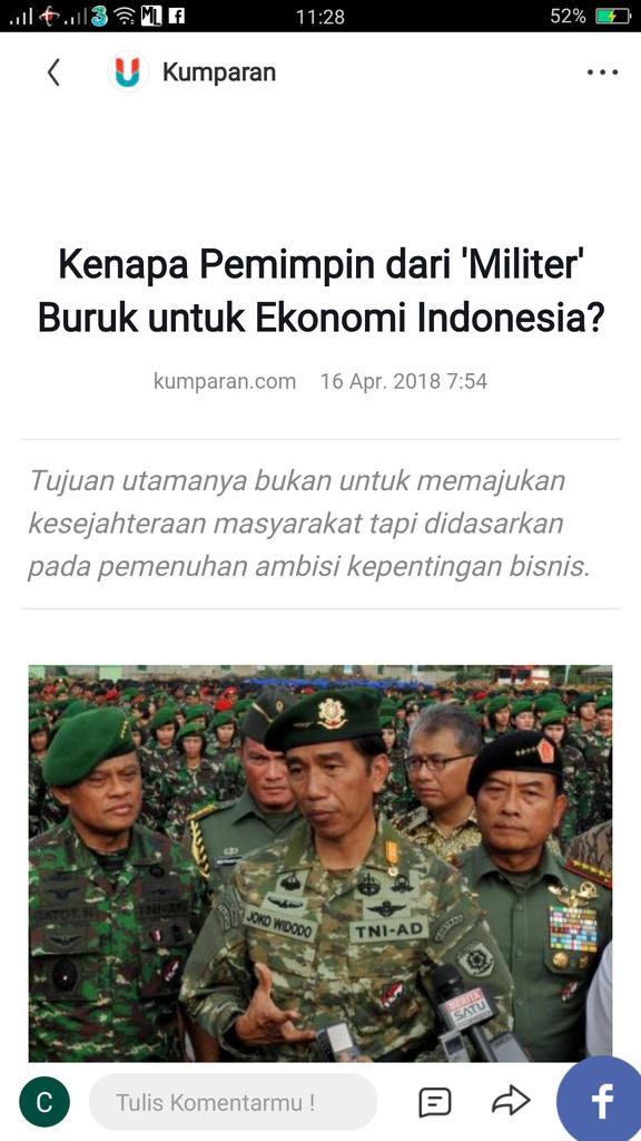 Kenapa Pemimpin dari 'Militer' Buruk untuk Ekonomi Indonesia?
