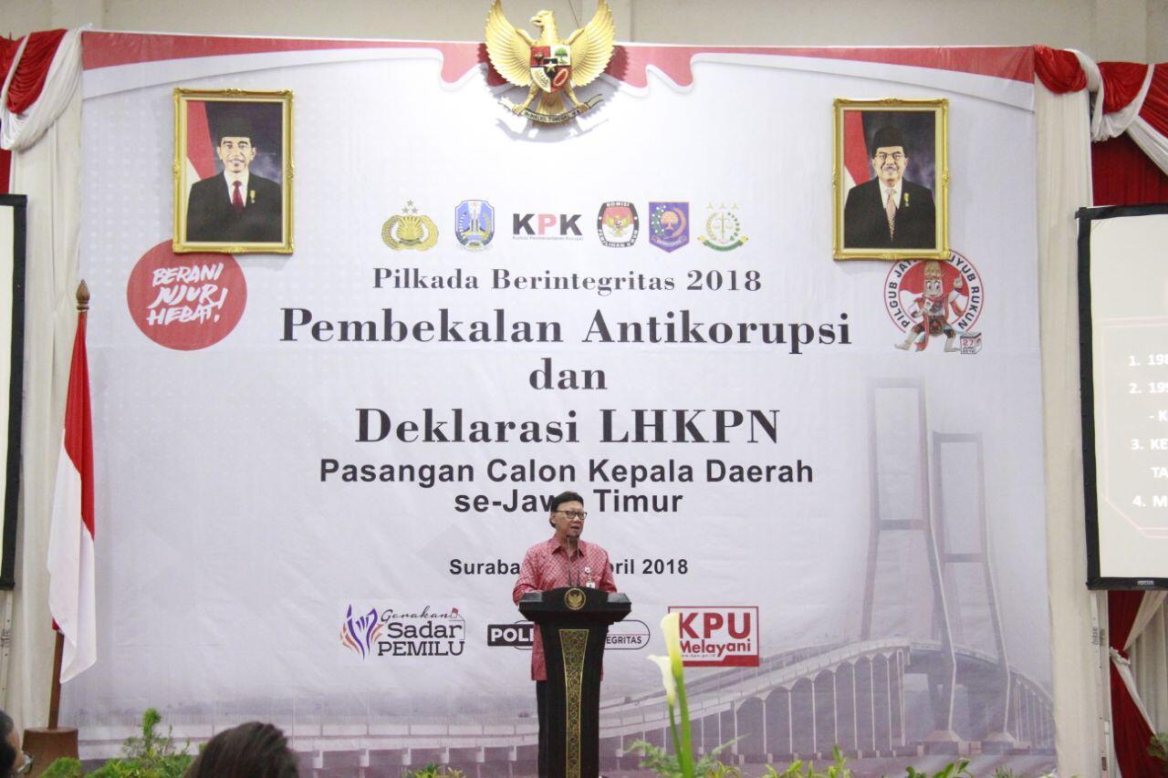 Calon Kepala Daerah Diingatkan Jauhi Praktek Korupsi Sekecil Apapun