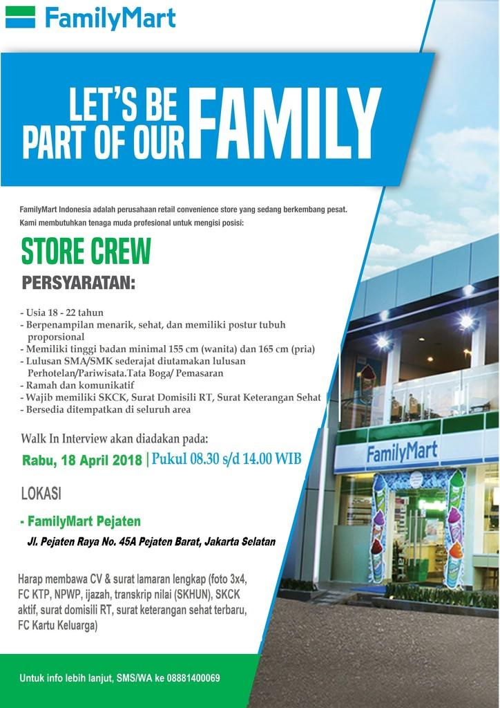 Walk In Interview Store Crew 18 April 2018