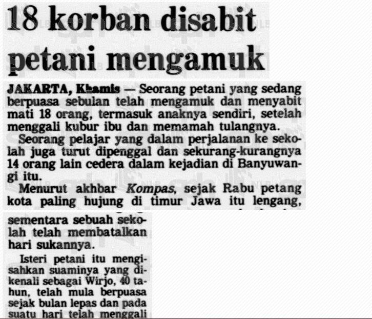 Pembantaian Banjarsari - Banyuwangi