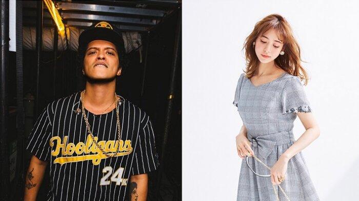 Kesal karena Tak Berhenti Selfie Bruno Mars Lempar Handuk pada Model Cantik Jepang .