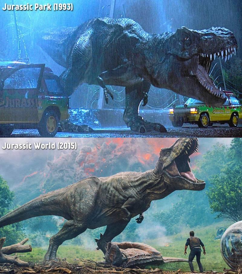 terpaut jarak 22 tahun inilah perbandingan efek film