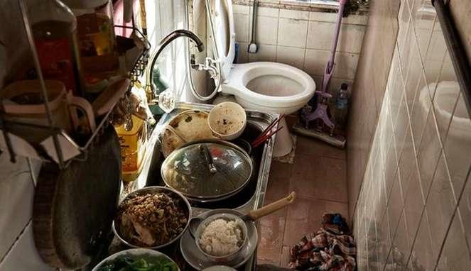 10 Potret Mirisnya Kehidupan Kos di Hongkong, Bahkan Toilet dan Dapur Pun harus Jadi