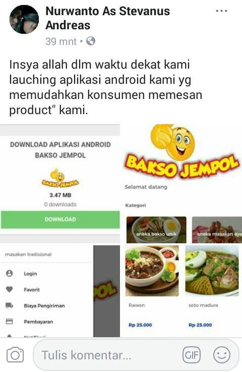 Pengelolaan aplikasi android resto