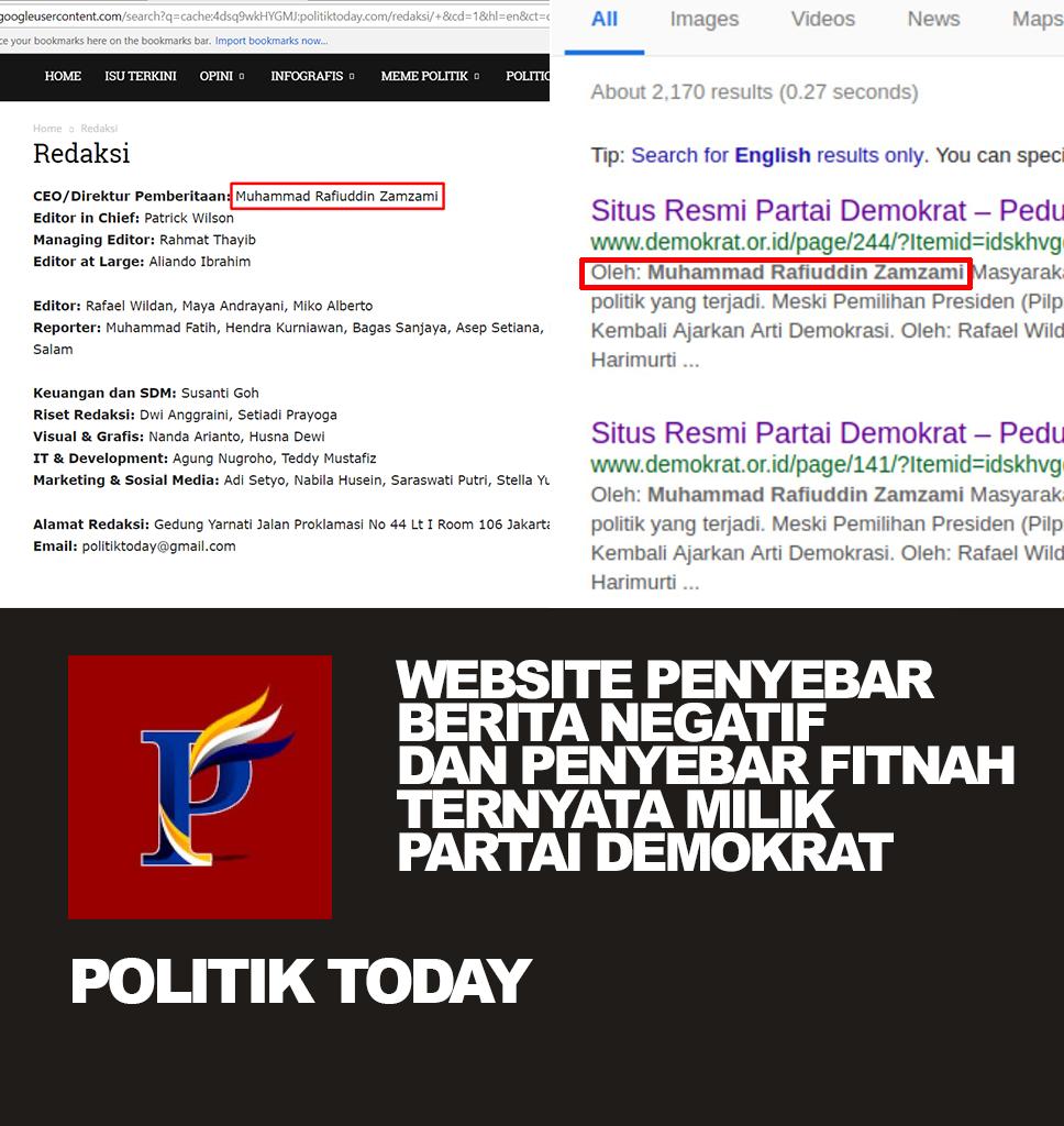 Terciduk Admin Web Hoax Adalah Admin Web Demokrat (politiktoday.com)