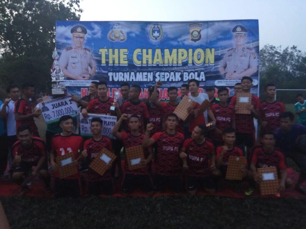 Adu Penalti, Muara Padang FC Juara Kapolres Cup 2018