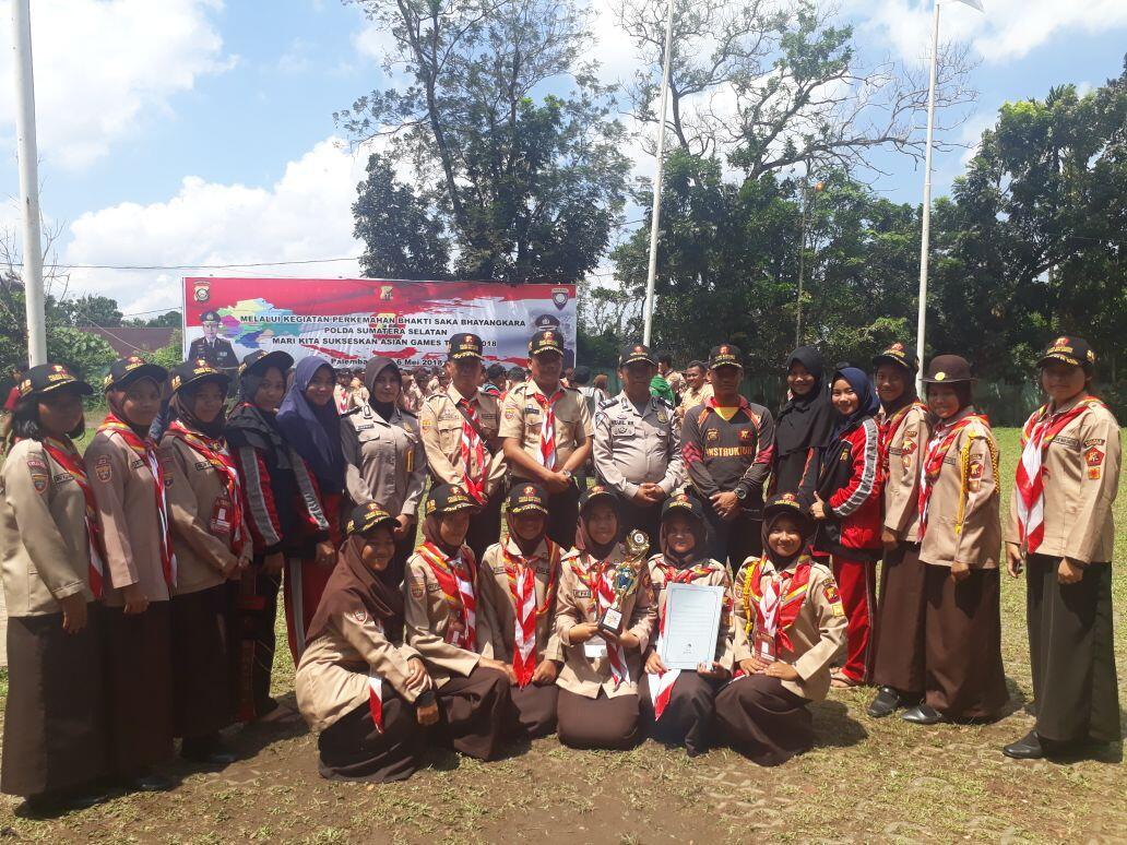 Kanit Binmas Polda Sumsel Pimpin Upacara Penutupan Perkemahan Saka Bhayangkara